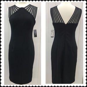 SL FASHIONS NY Black Dress Sz 6 NEW